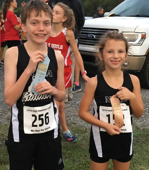 Stephen and Olivia at the Cross Country Meet