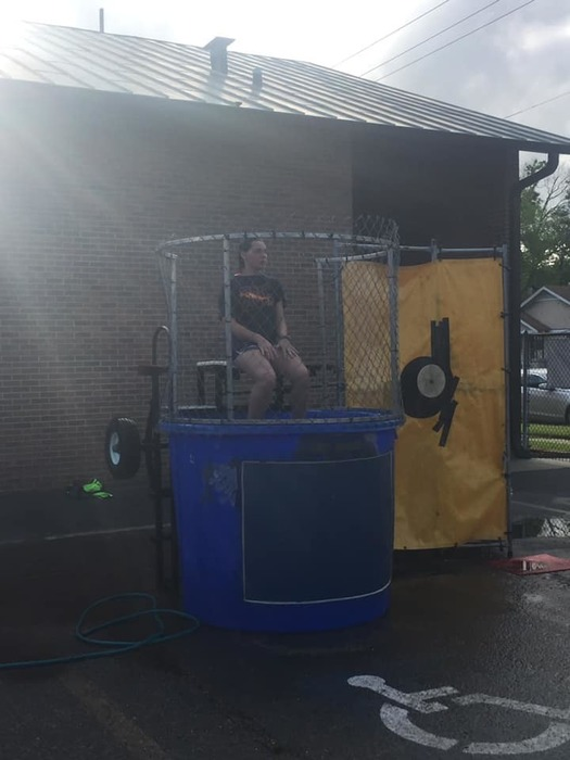 Christina in the Dunking Booth