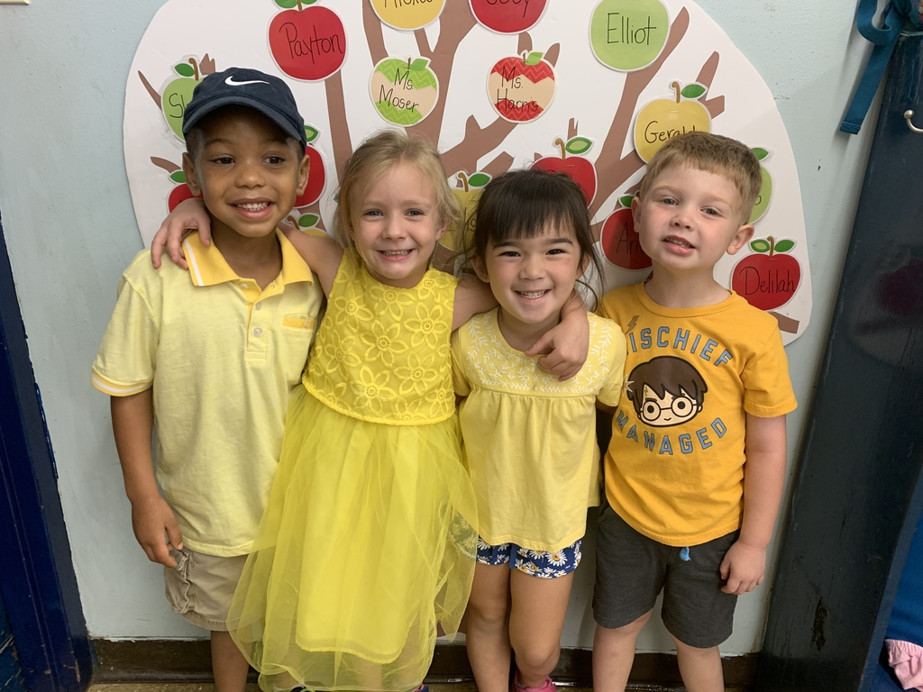 Pre k in yellow