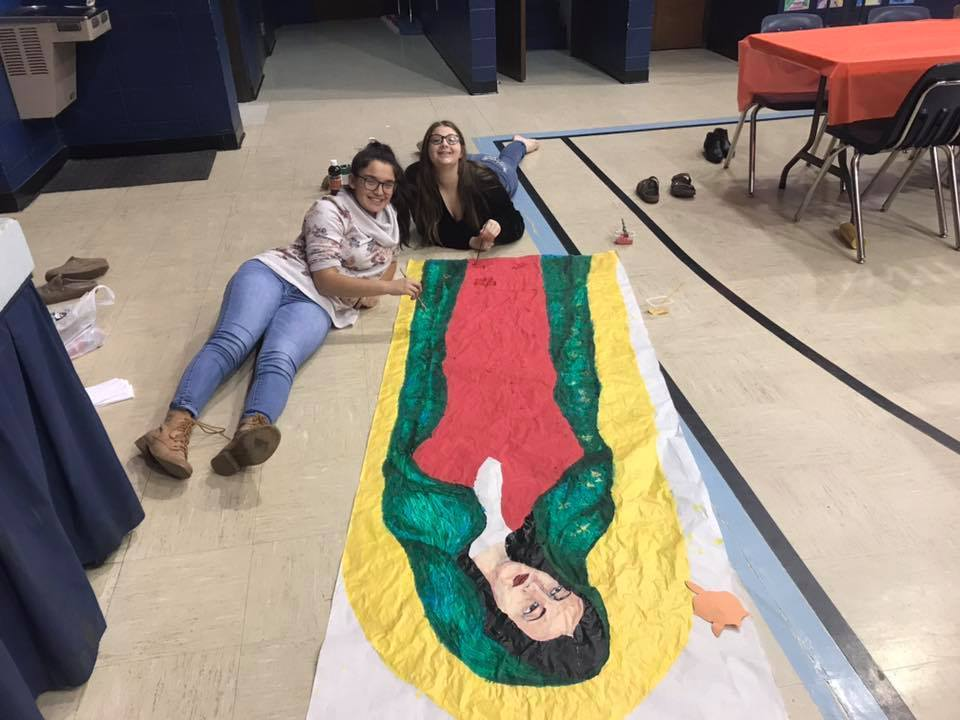 Painting Our Lady of Guadalupe